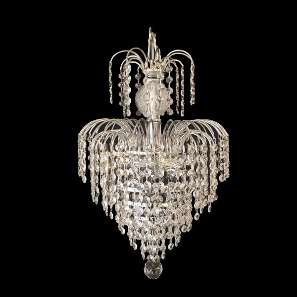Waterfall 330mm crystal chrome pendant light lighting empire waterfall 330 chrome chandelier crpwat03330ch aloadofball Gallery