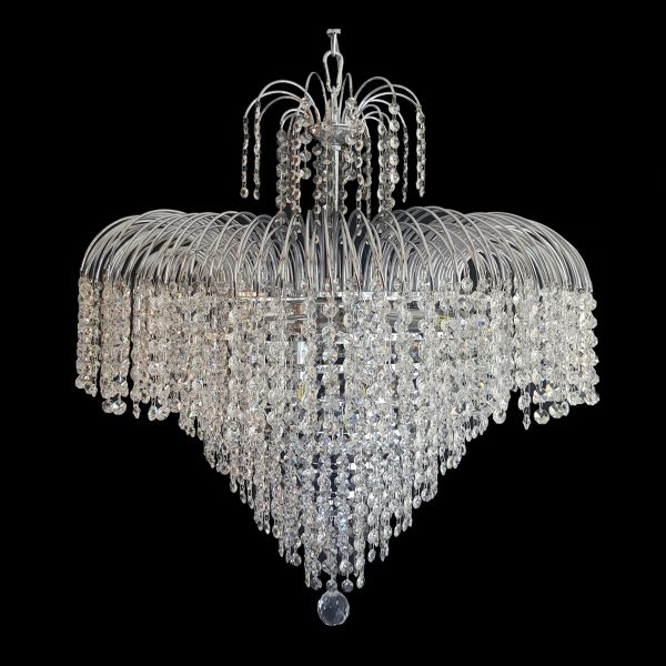 Waterfall 660mm crystal chrome pendant light lighting empire waterfall 660 chrome chandelier crpwat08660ch aloadofball Gallery