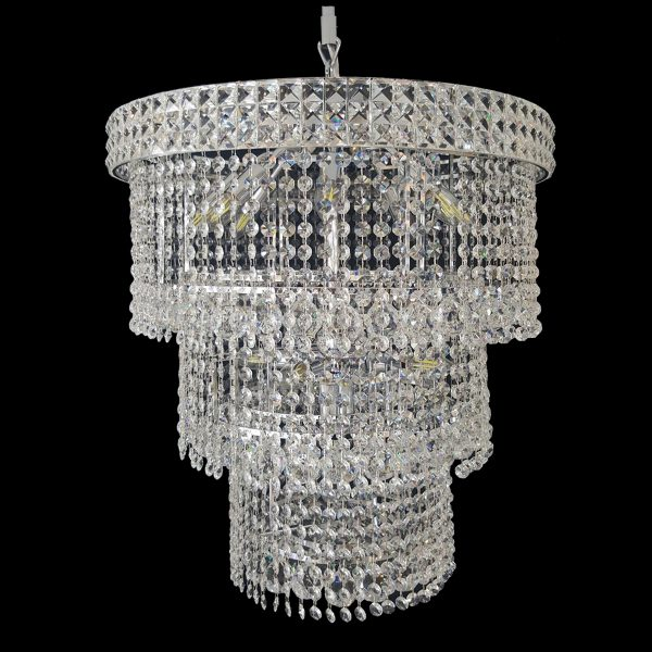 Lincoln 600mm crystal chrome pendant light lighting empire lincoln 600 chrome chandelier crplin14600ch aloadofball Gallery