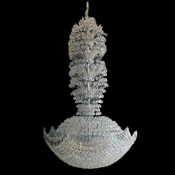 Yorkshire 1500mm Crystal Chrome Pendant Light 1500 Chandelier Crpyor571500ch
