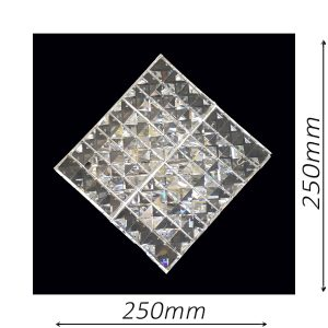 Diamante 250 Chrome Wall Light - CRWDIA02250CH