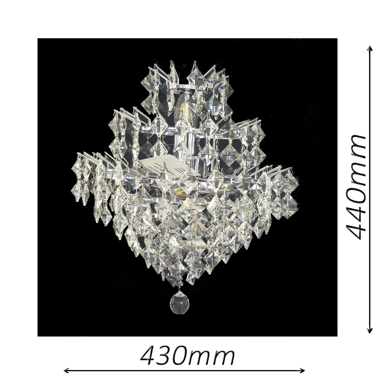 Diamante 430 Chrome Chandelier - CRPDIA05430CH