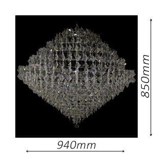 Diamante 940 Chrome Chandelier - CRPDIA24940CH