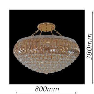 Dome 800 Gold Chandelier - CRPDOM17800GD