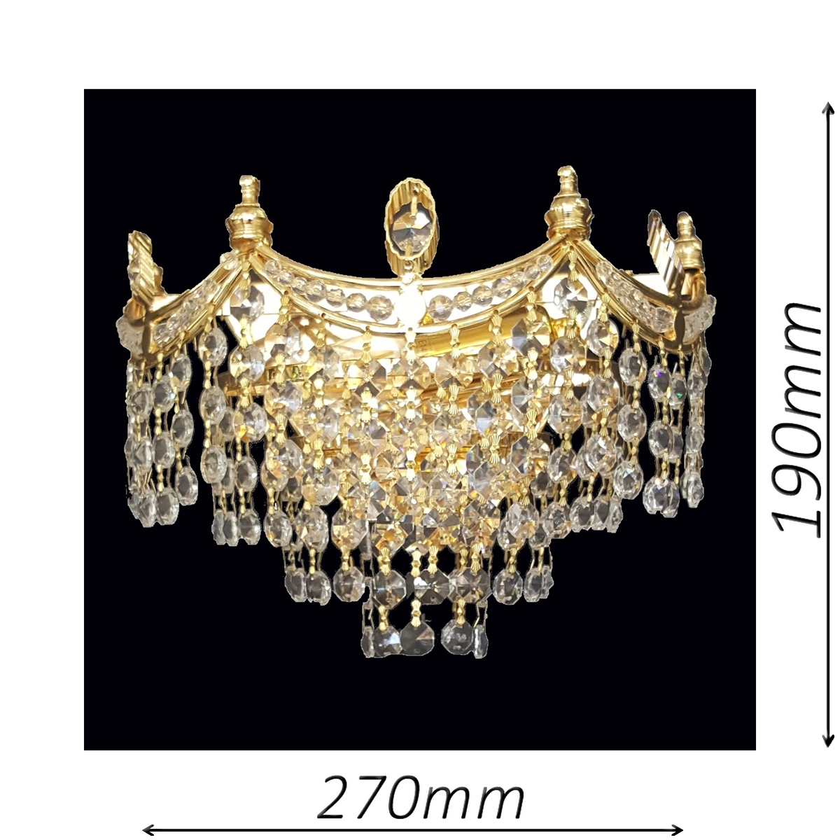 Bristol 270 Gold Wall Light - CRWBRI02270GD