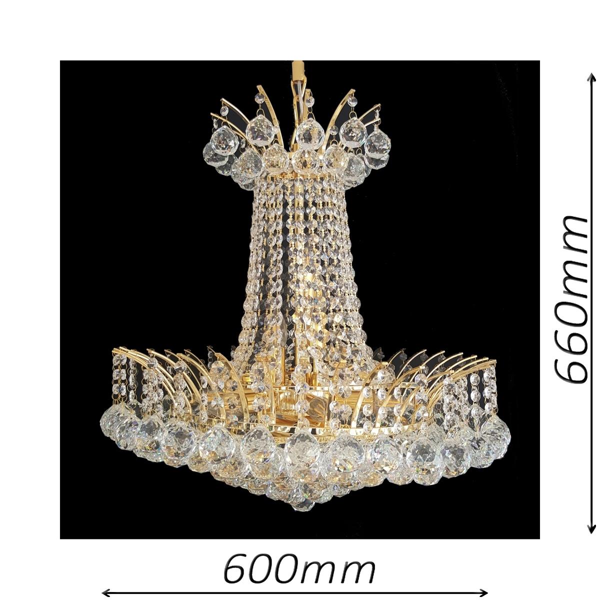 Devon 600 Gold Chandelier - CRPDEV11600GD