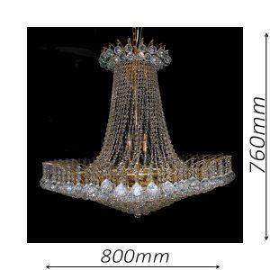 Devon 800 Gold Chandelier - CRPDEV14800GD