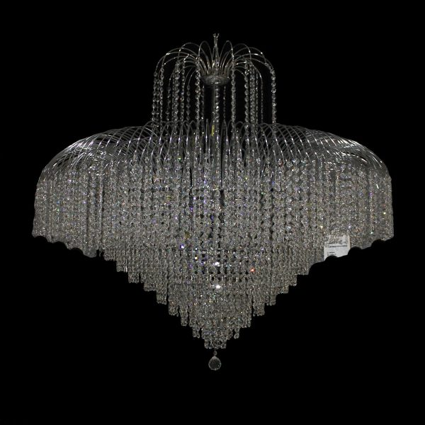 Waterfall 1100mm Crystal Chrome Pendant Light 1100 Chandelier Crpwat191100ch