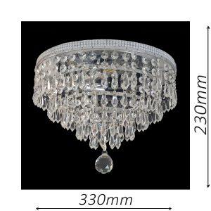 Waterfall 330 Chrome Ceiling Light - CTCWAT03330CH