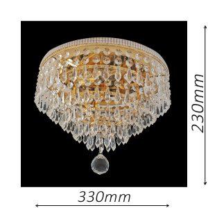 Waterfall 330 Gold Ceiling Light - CTCWAT03330GD