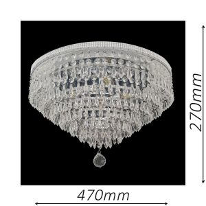Waterfall 470 Chrome Ceiling Light - CTCWAT05470CH
