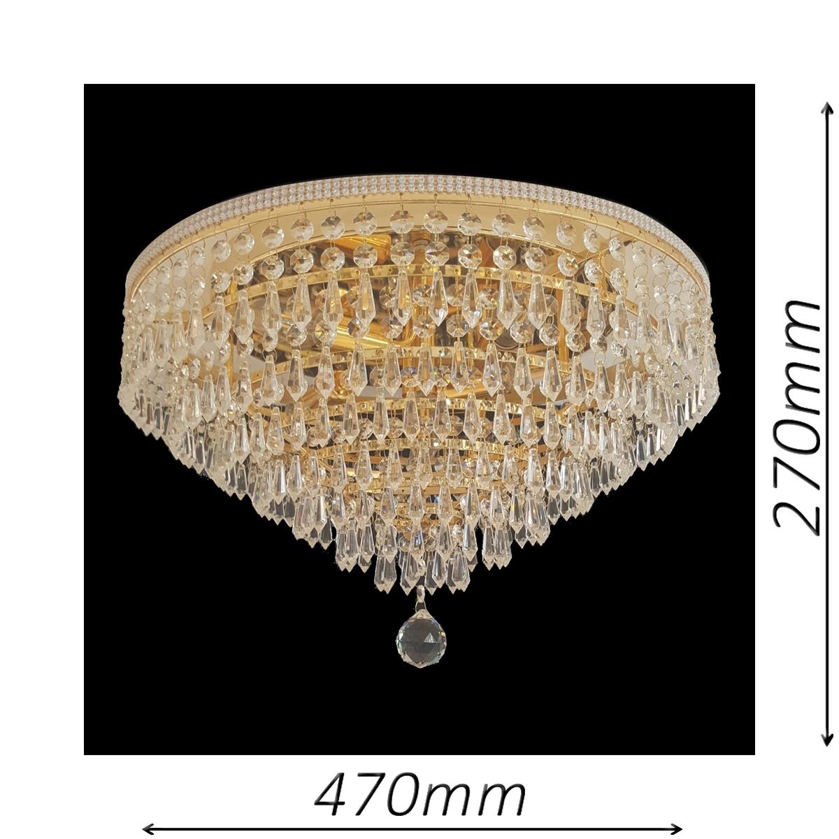 Waterfall 470 Gold Ceiling Light - CTCWAT05470GD