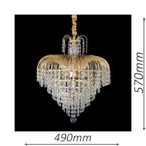 Waterfall 490 Gold Chandelier - CRPWAT05490GD