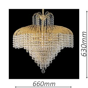 Waterfall 660 Gold Chandelier - CRPWAT08660GD