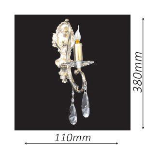 Buckingham 110 Gold Wall Light - CRWBUC01110GD