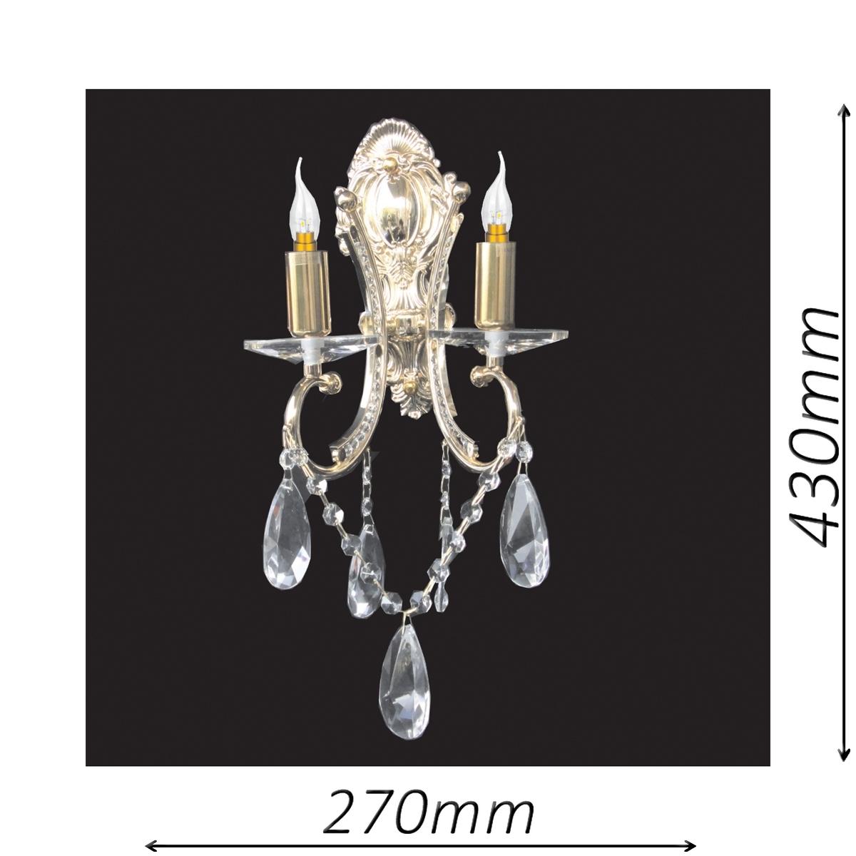 Buckingham 270 Gold Wall Light - CRWBUC02270GD
