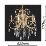 Buckingham 620 Gold Chandelier – CRPBUC06620GD