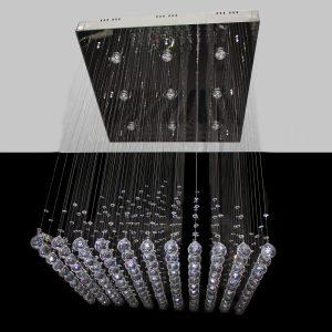 1 Box Pyramid 800mm String Chandelier - CRP1016