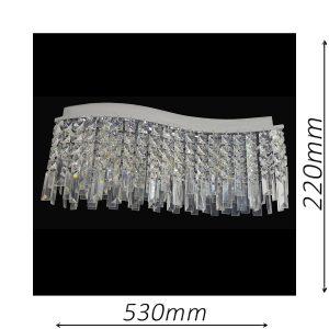 Durham 530 Chrome Ceiling Light - CTCDUR03530CH