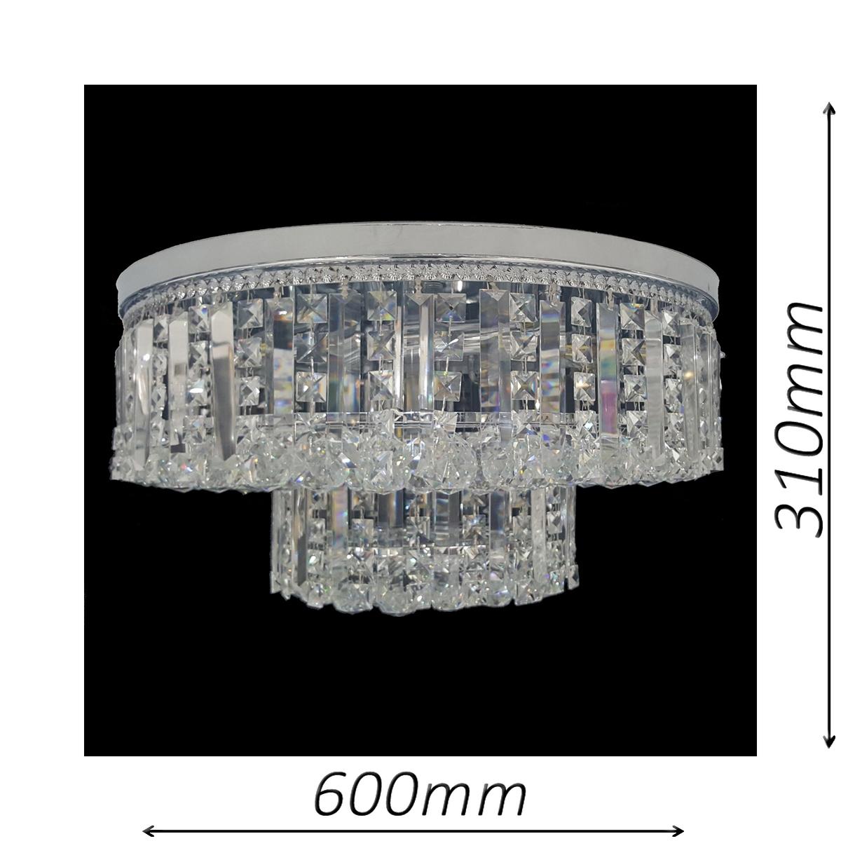 Kent 650 Chrome Ceiling Light - CTCKEN11650CH