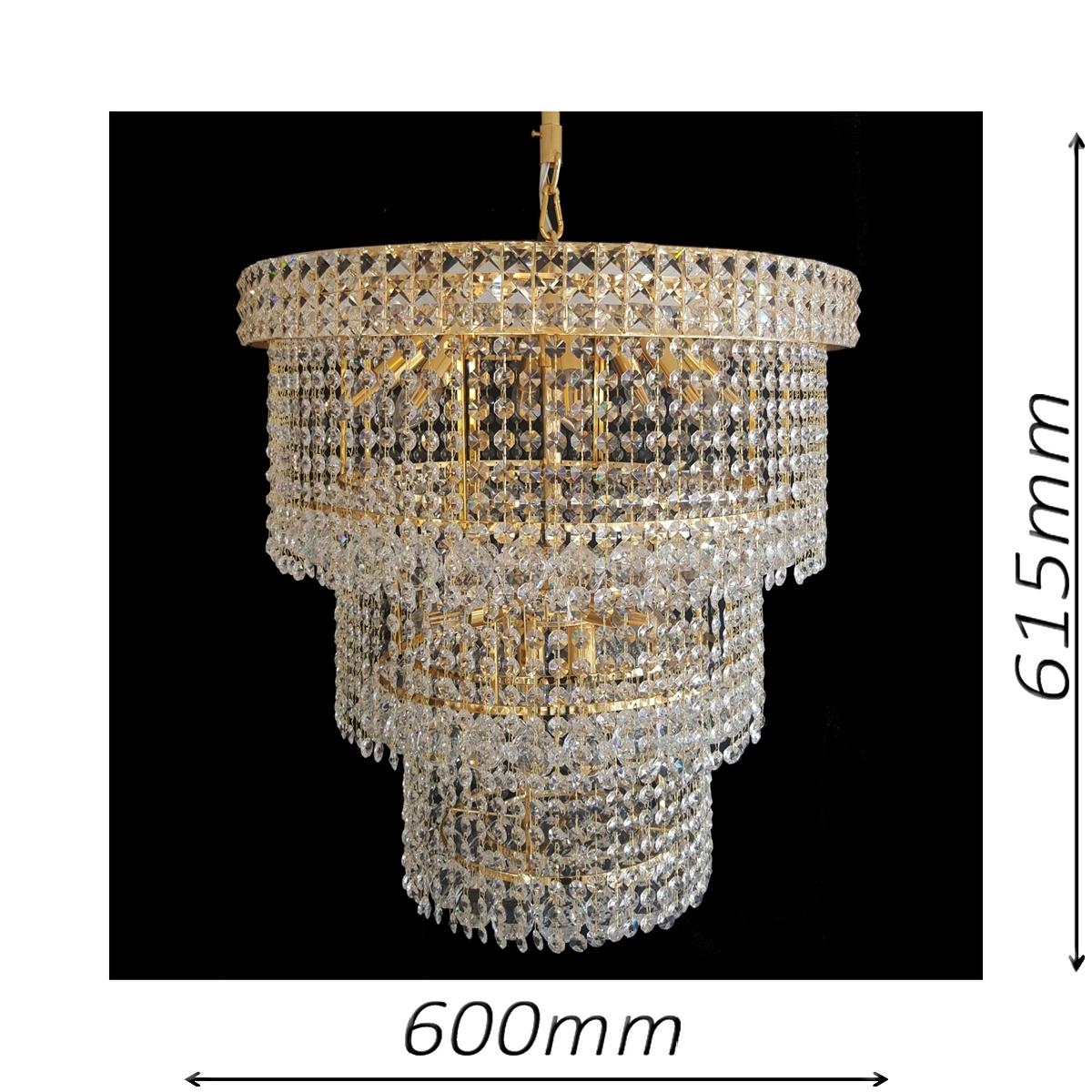 Lincoln 600 Gold Chandelier - CRPLIN14600GD