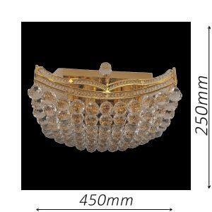 Mersey 450 Gold Ceiling Light - CTCMER10450GD