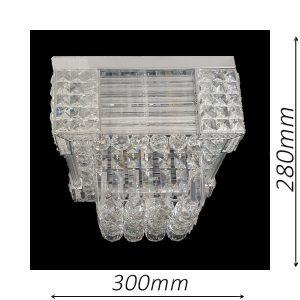 Midland 300 Chrome Ceiling Light - CTCMID05300CH