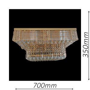 Midland 700 Gold Ceiling Light - CTCMID21700GD