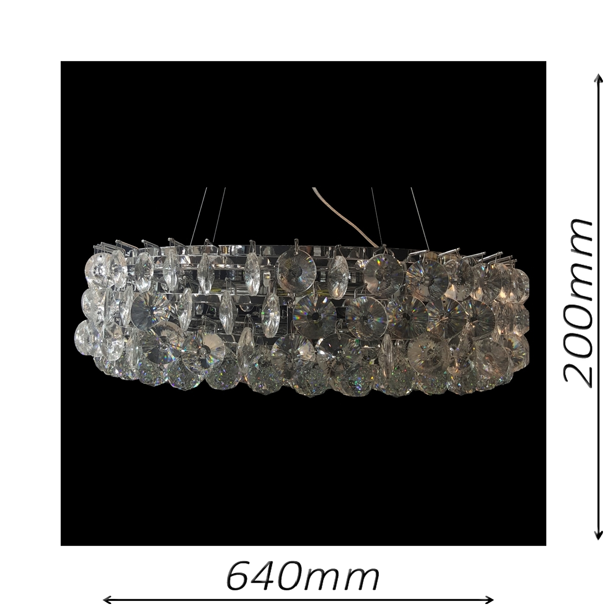 Musluk 610 Chrome Chandelier - CRPMUS10610CH