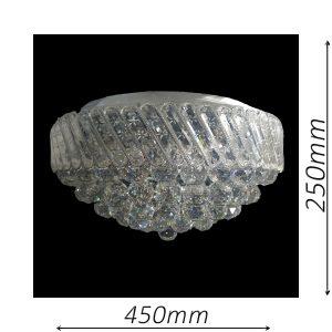 Oxford 450 Chrome Ceiling Light - CTCOXF05450CH