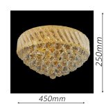 Oxford 450 Gold Ceiling Light – CTCOXF05450GD