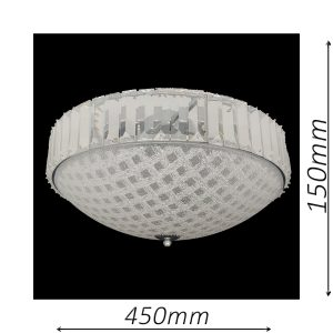 Rutland 450 Chrome Ceiling Light - CTCRUT06450CH