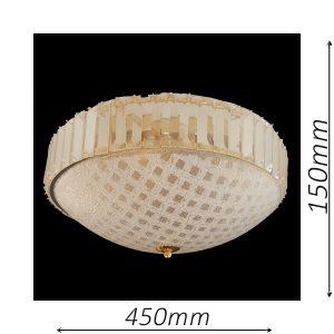 Rutland 450 Gold Ceiling Light - CTCRUT06450GD