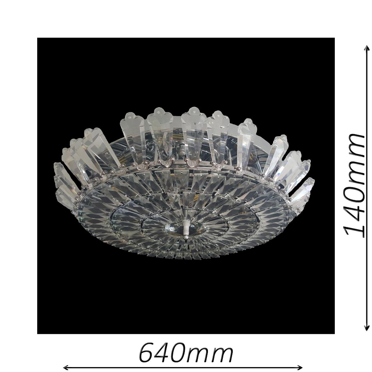 Spherical 640 Chrome Ceiling Light - CTCSPH10640CH