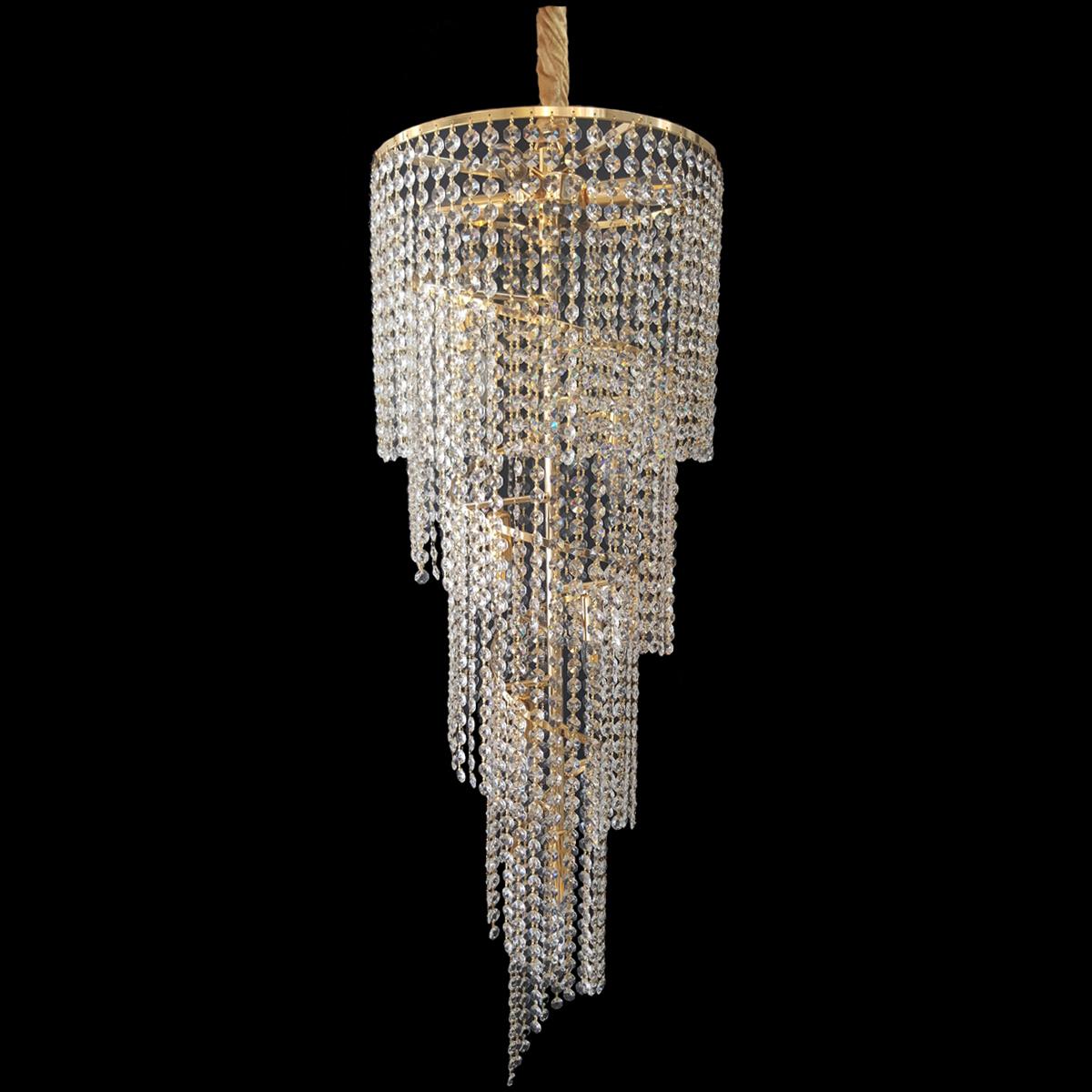 Spiral 410 Gold Chandelier - CRPSPI10410GD