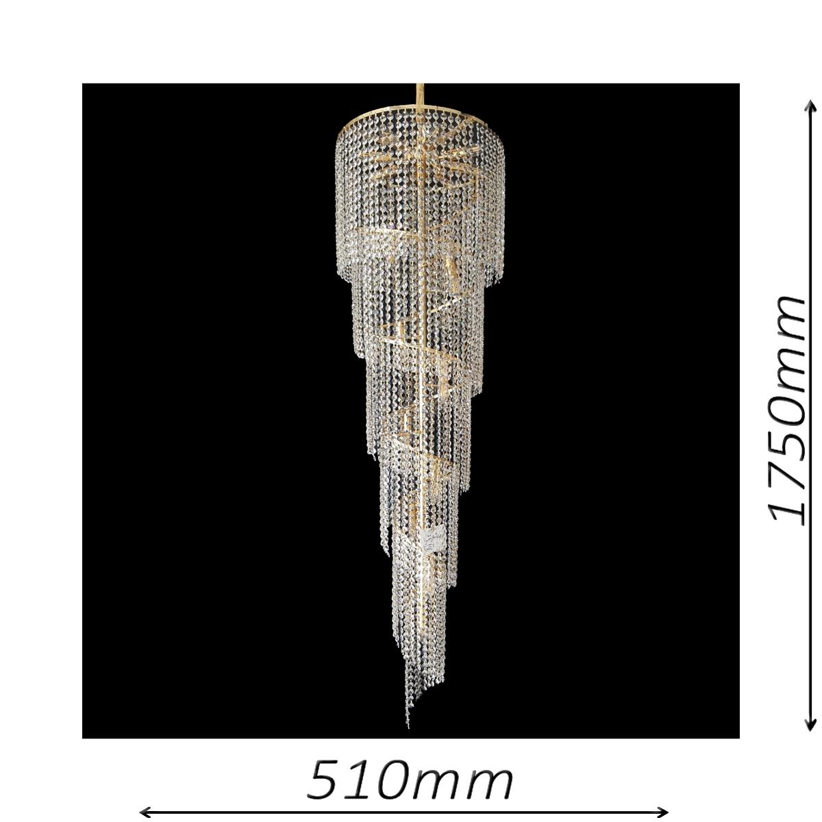 Spiral 510 Gold Chandelier - CRPSPI17510GD
