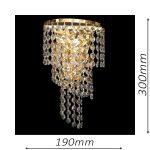 Spiral Small Gold Wall Light – CRWSPI20190GD