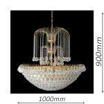 Surrey 1000 Gold Chandelier – CRPSUR211000GD
