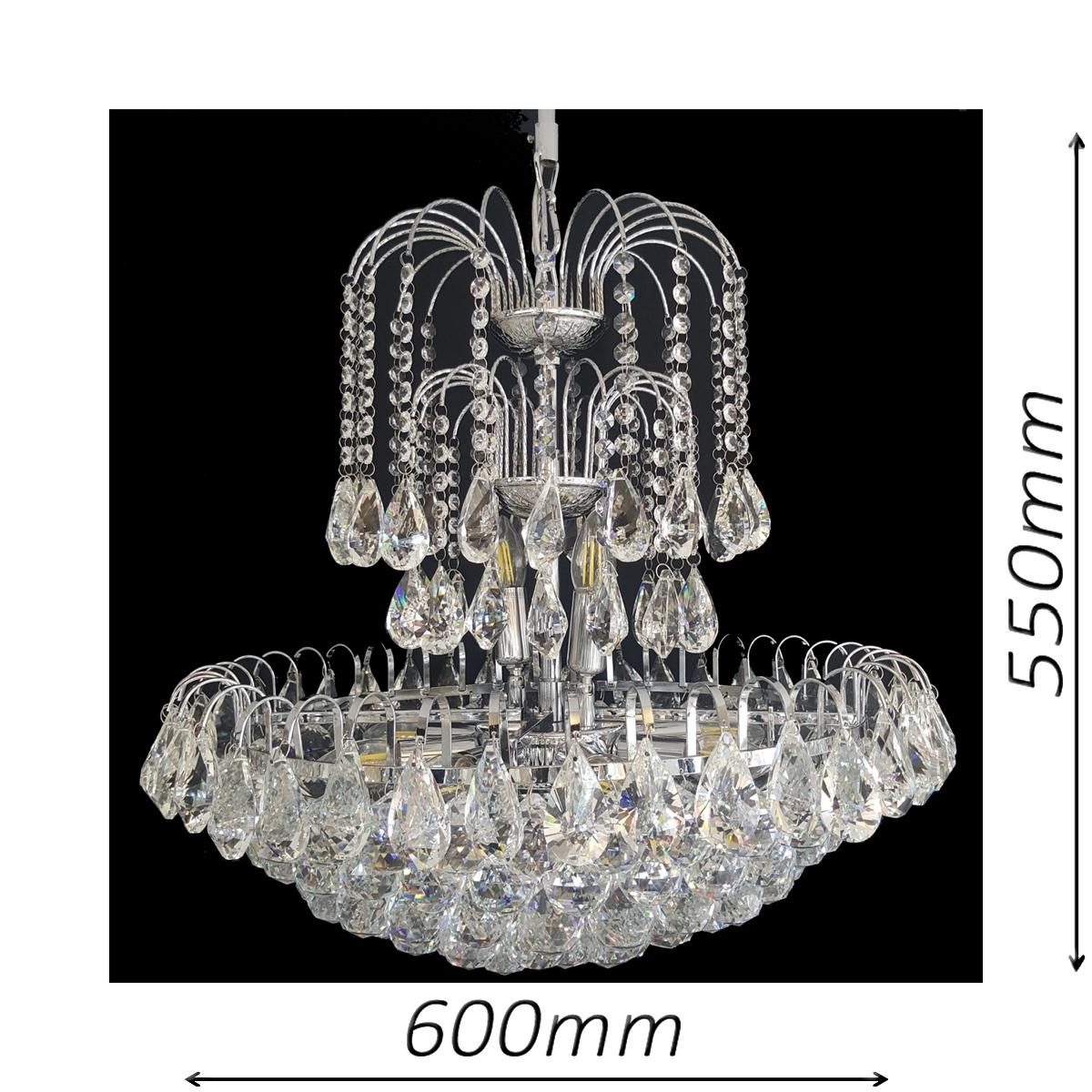 Surrey 600 Chrome Chandelier - CRPSUR10600CH