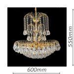 Surrey 600 Gold Chandelier – CRPSUR10600GD