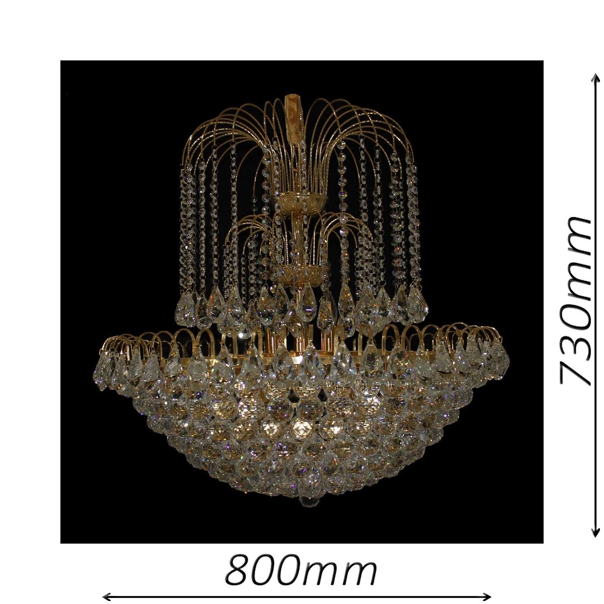 Surrey 800 Gold Chandelier - CRPSUR19800GD
