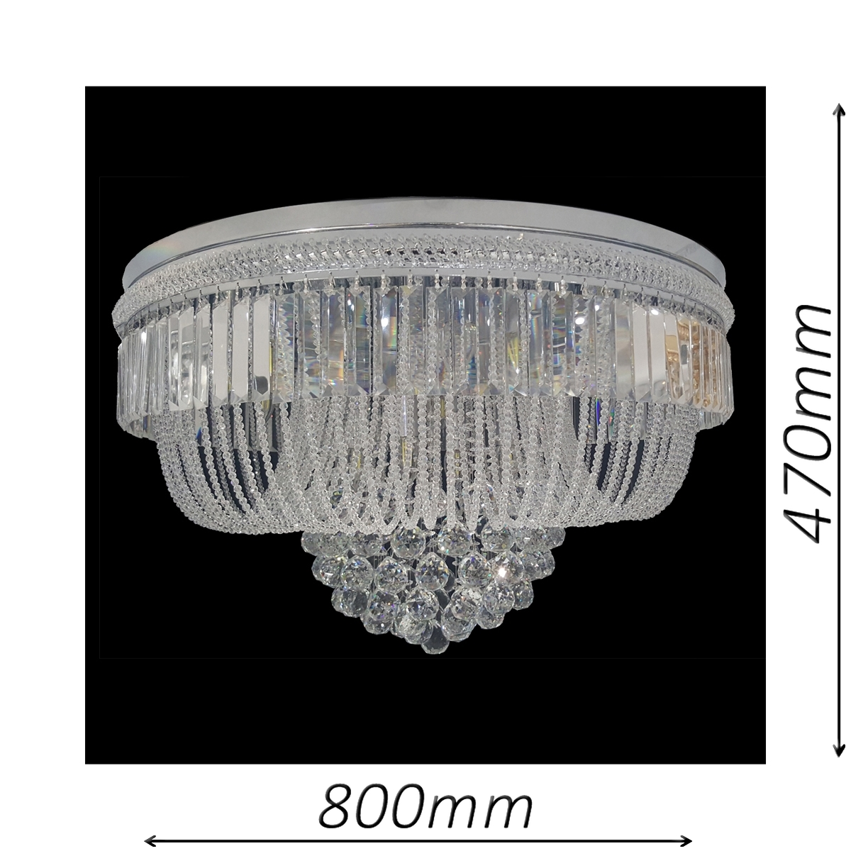 Warwick 800 Chrome Ceiling Light - CTCWAR14800CH