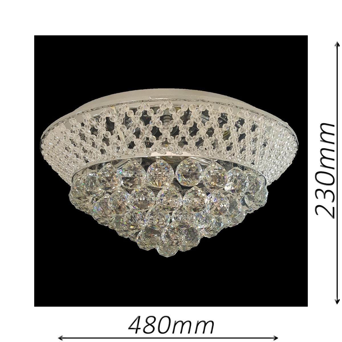 Cumbria 480 Chrome Ceiling Light - CTCCUMB04480CH